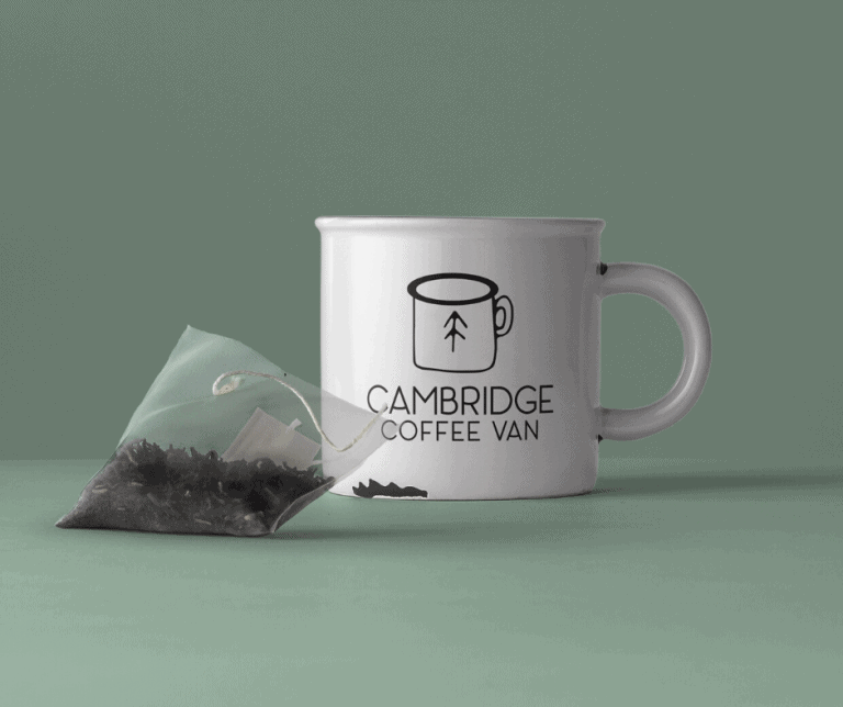 Cambridge Coffee Van - Tea Cup with Tea Bag